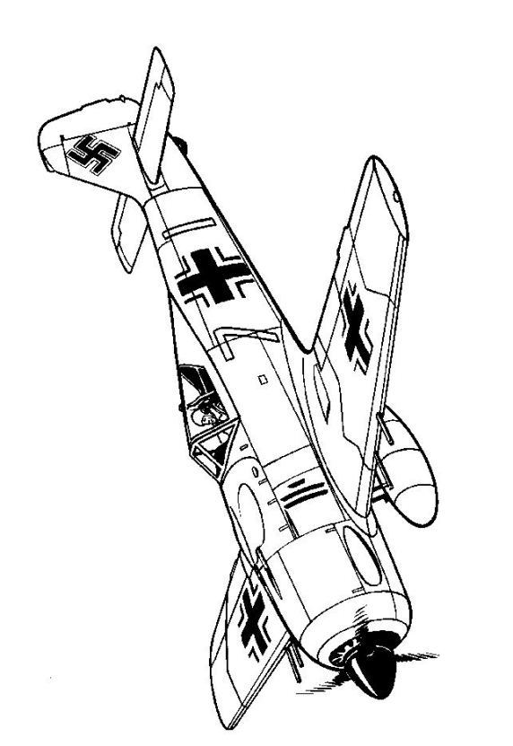 Kids-n-fun.com | 46 coloring pages of WWII Aircrafts