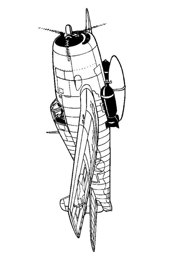 Kids n 46 coloring pages of wwii aircrafts for Hellcat coloring pages