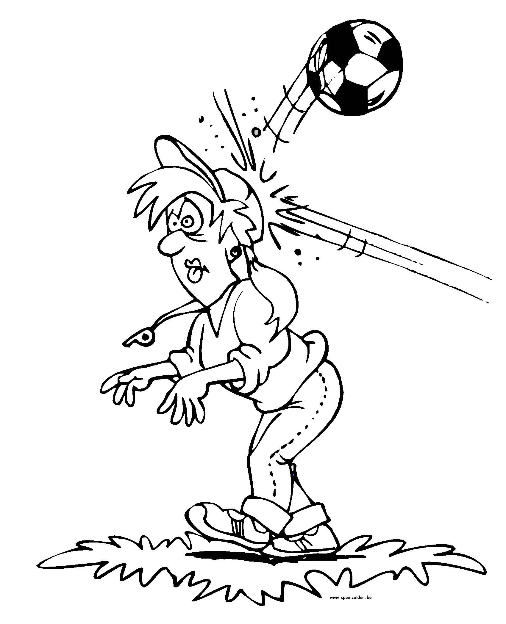Game Coloring Sheets Soccer free | 2098x1700
