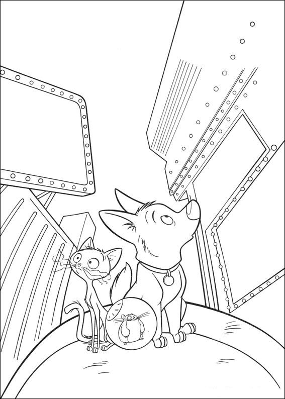 Kidsnfun 32 coloring pages of Bolt