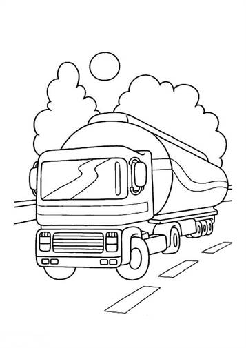 n 15 coloring pages of trucks
