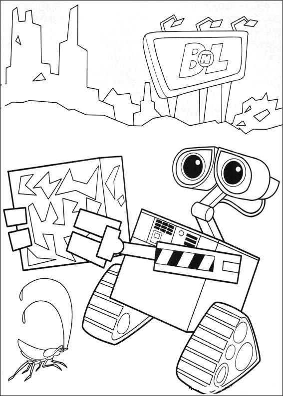 coloring book pages wall e - photo#9