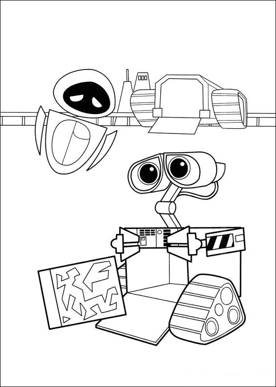 walle free coloring pages - photo#16