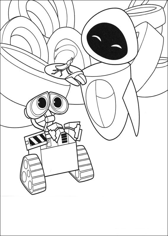 coloring book pages wall e - photo#14
