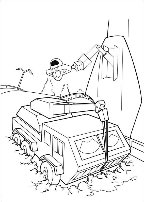 coloring book pages wall e - photo#18