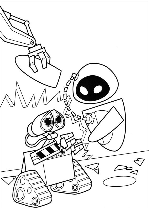kids n funcom 59 coloring pages of wall e