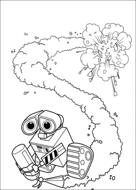 coloring book pages wall e - photo#21