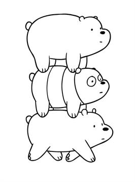 Kids-n-fun.com | 15 coloring pages of We bare Bears