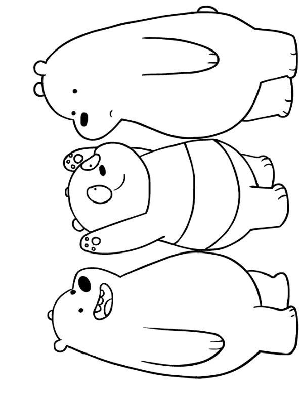 Kids-n-fun.com   Coloring page We bare Bears We bare Bears