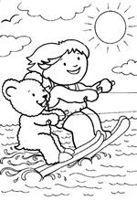 coloring page Waterskiën