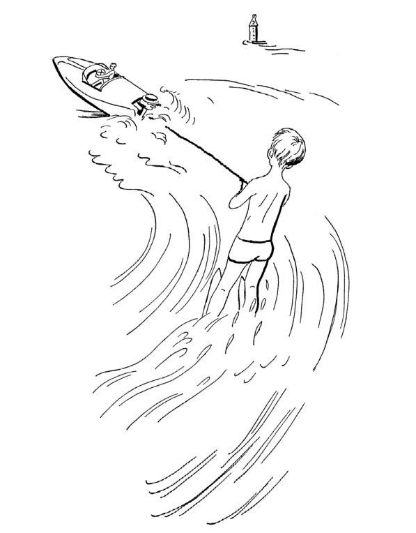 Kids-n-fun.com   9 coloring pages of Water skiing