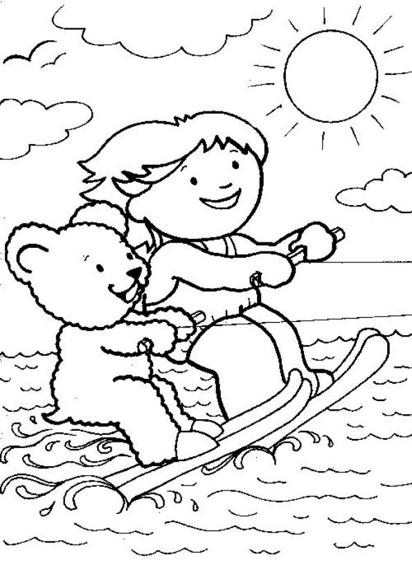 9 Water Skiing Coloring Pages