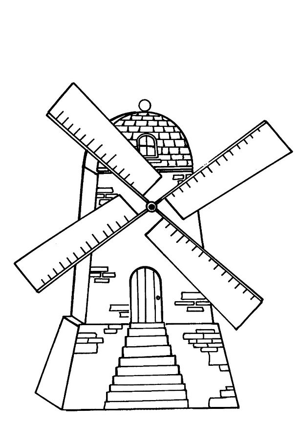18 Windmills Coloring Pages