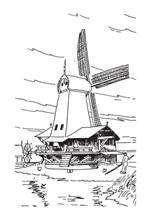 free coloring pages dutch windmill - photo#29