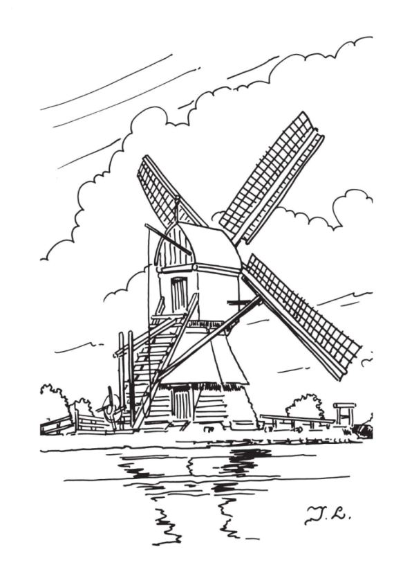 Kids N Fun Com 18 Coloring Pages Of Windmills