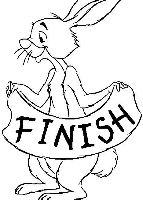 Kids n 14 coloring pages of winnie the pooh and for Winnie the pooh rabbit coloring pages