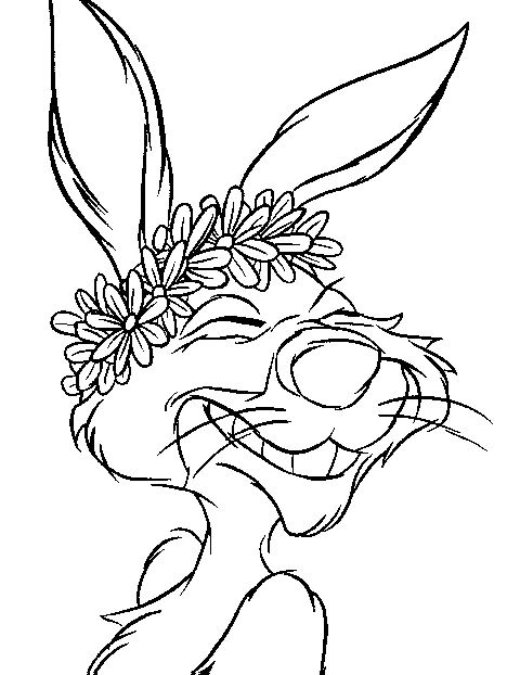 Kids n coloring page winnie the pooh and rabbit for Winnie the pooh rabbit coloring pages