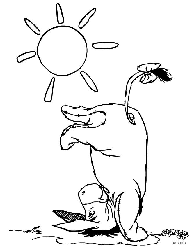 Pooh and Eeyore coloring page - Topcoloringpages.net | 847x660