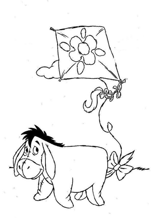 Pooh Valentine Heart Coloring Pages Printable | 855x636