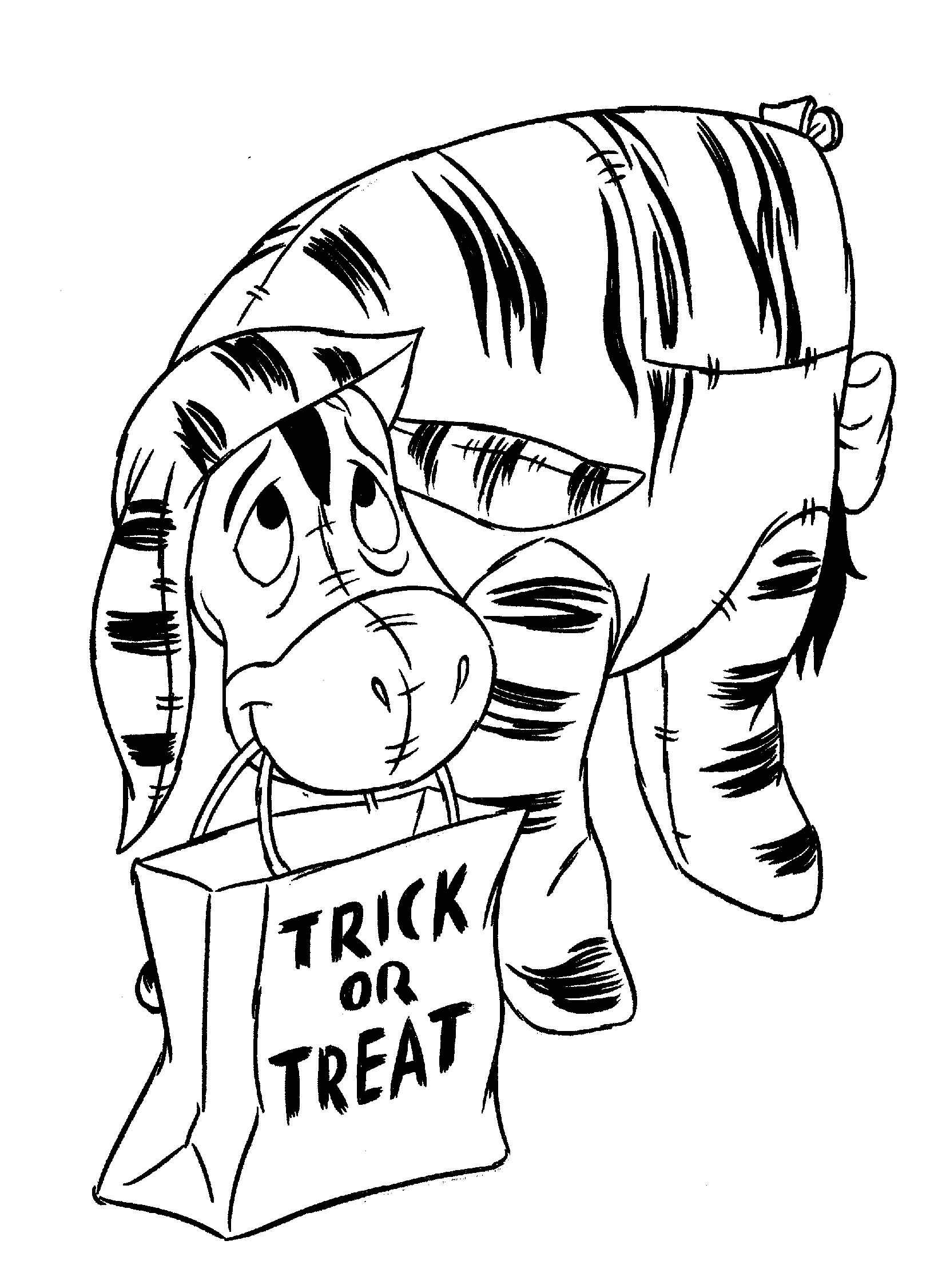 the pooh halloween coloring pages - photo#32