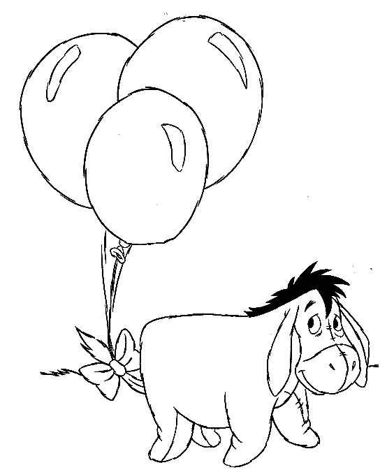 Kids n funcouk 23 coloring pages of Winnie de Pooh and Eeyore
