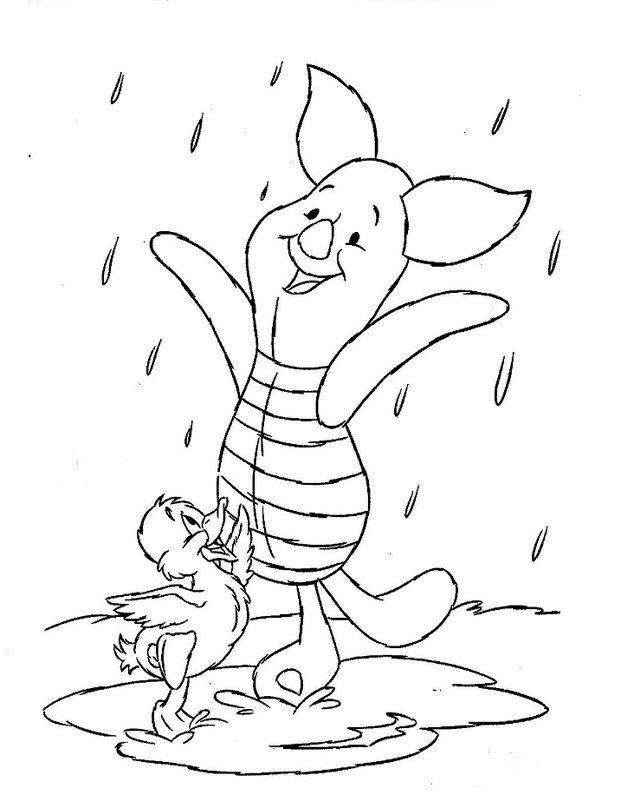 Kids n 42 coloring pages of winnie de pooh and for Pooh and piglet coloring pages