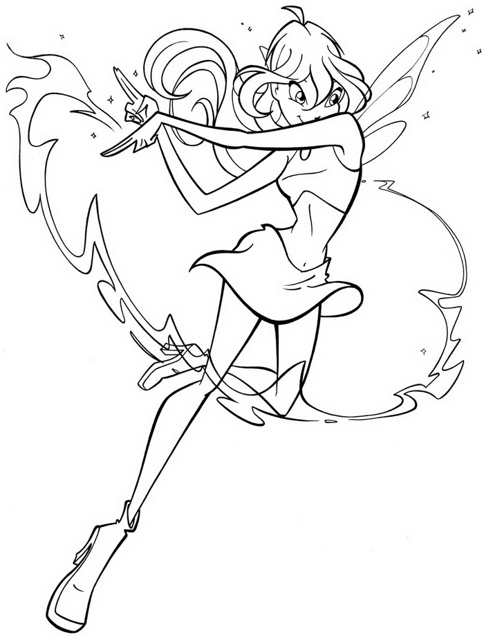 28 winx club coloring pages