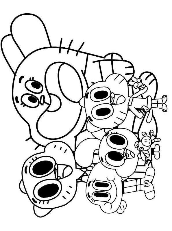 Kids-n-fun.com | Coloring page Amazing World of Gumball ...