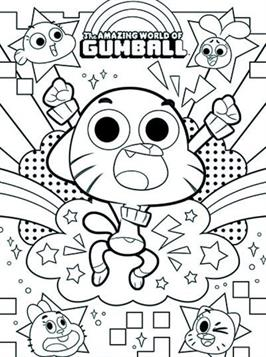 Coloring Pages Of Amazing World Gumball