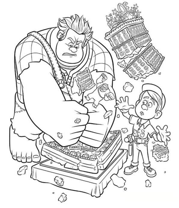 Kids N Fun Com 40 Coloring Pages Of Wreck It Ralph