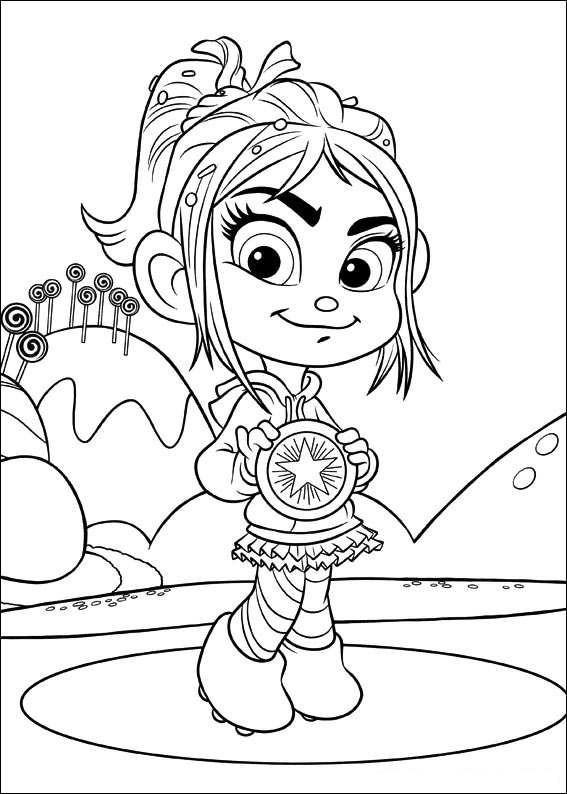 sugar rush coloring pages - photo#36