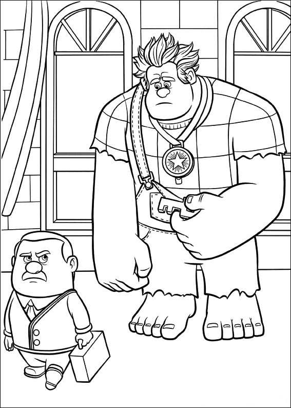 Kids-n-fun.com | 40 coloring pages of Wreck it Ralph