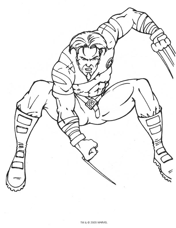 kidsnfun  40 coloring pages of x men