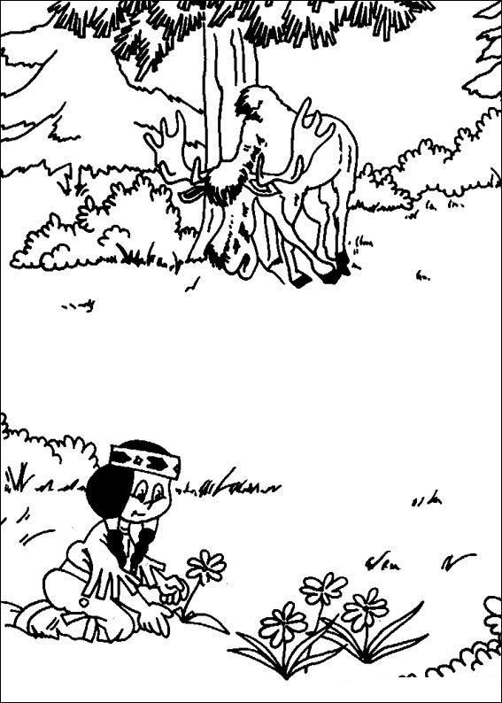kidsnfun  27 coloring pages of yakari