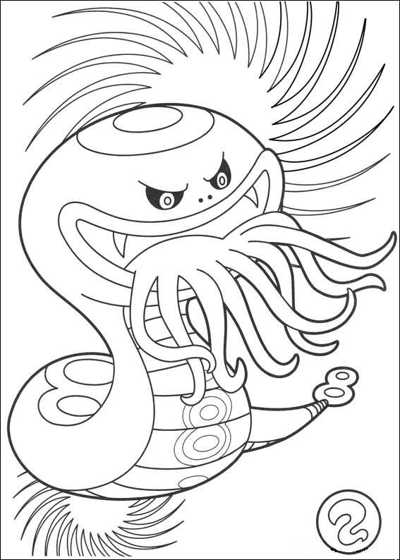 Kids n coloring page youkai yokai watch 3 for Yo kai watch coloring pages
