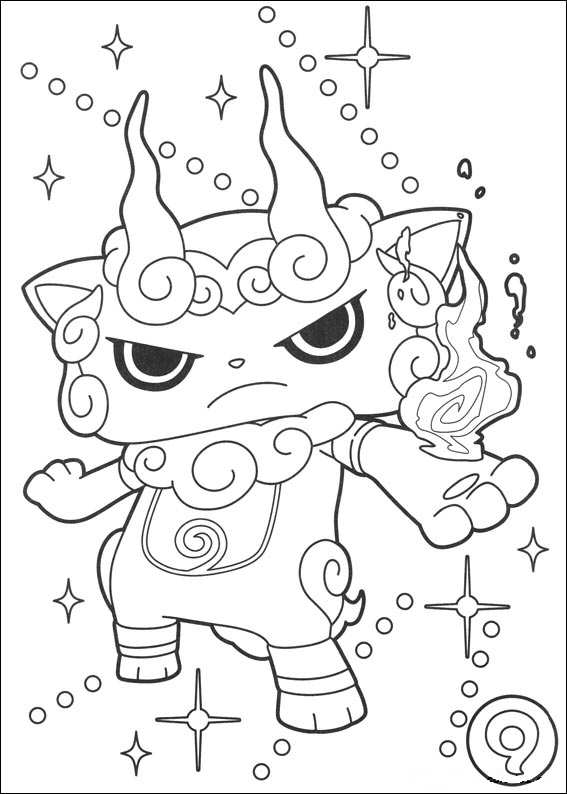 Kids-n-fun.com   Coloring page Youkai yokai watch mega komasan