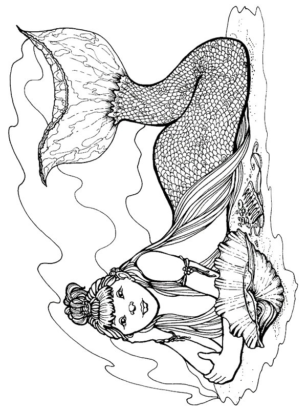 Kids-n-fun.com | 29 coloring pages of Mermaid