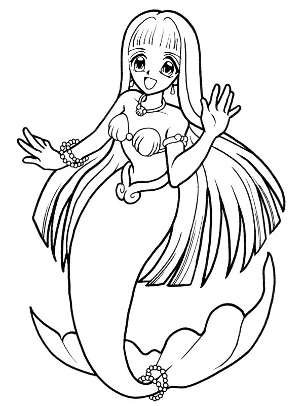 Kids n 29 coloring pages of mermaid for Coloring page mermaid