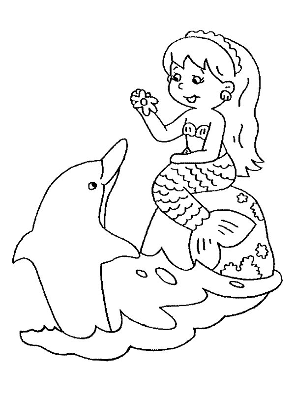 mermaid kids coloring pages - photo#11
