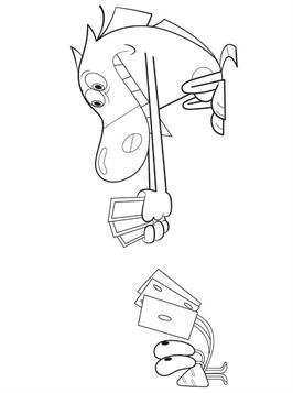 Kids-n-fun.com   19 coloring pages of Zig and Sharko