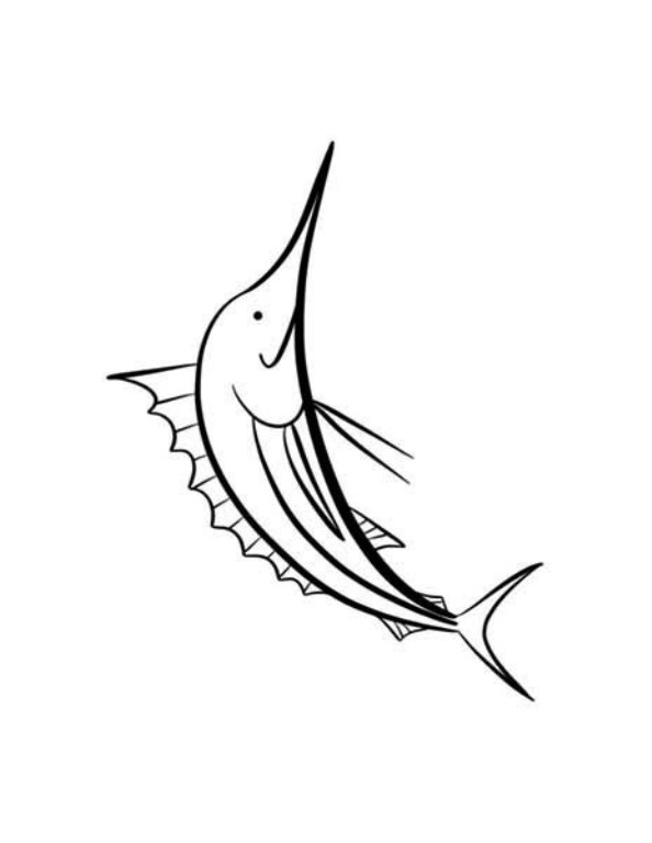 Kidsnfuncom  9 coloring pages of Swordfish