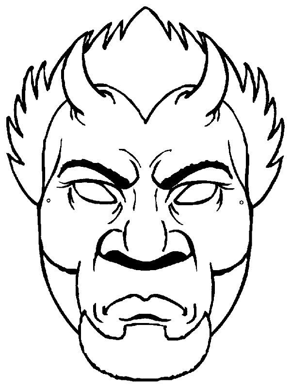 Devil Mask on Alphabet Crafts