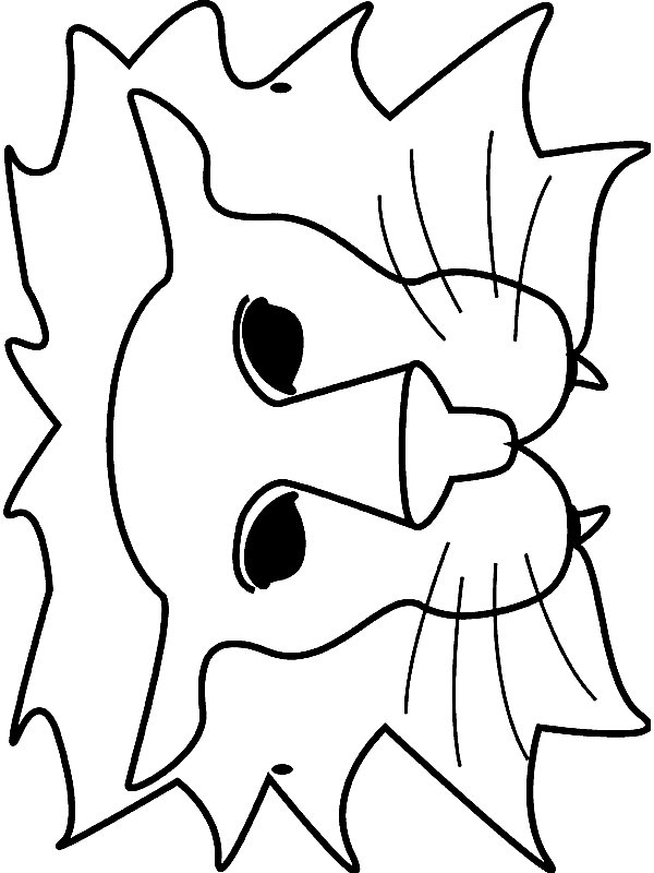 Free coloring pages of lion animal mask for Lion mask coloring page