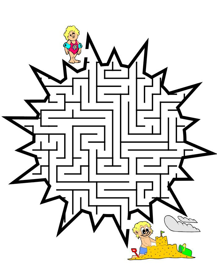 Kidsnfun 57 puzzle of Maze