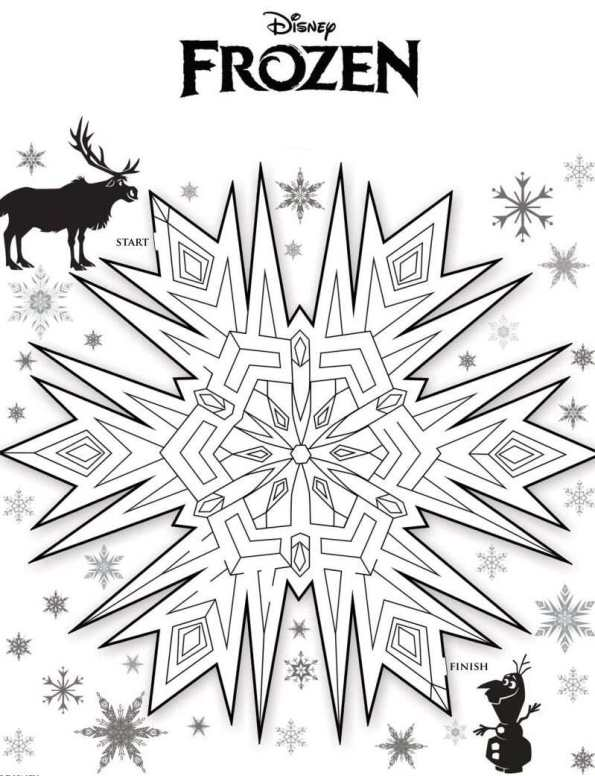 Kids N Fun Coloring Pages Frozen : Kids n fun puzzles maze frozen