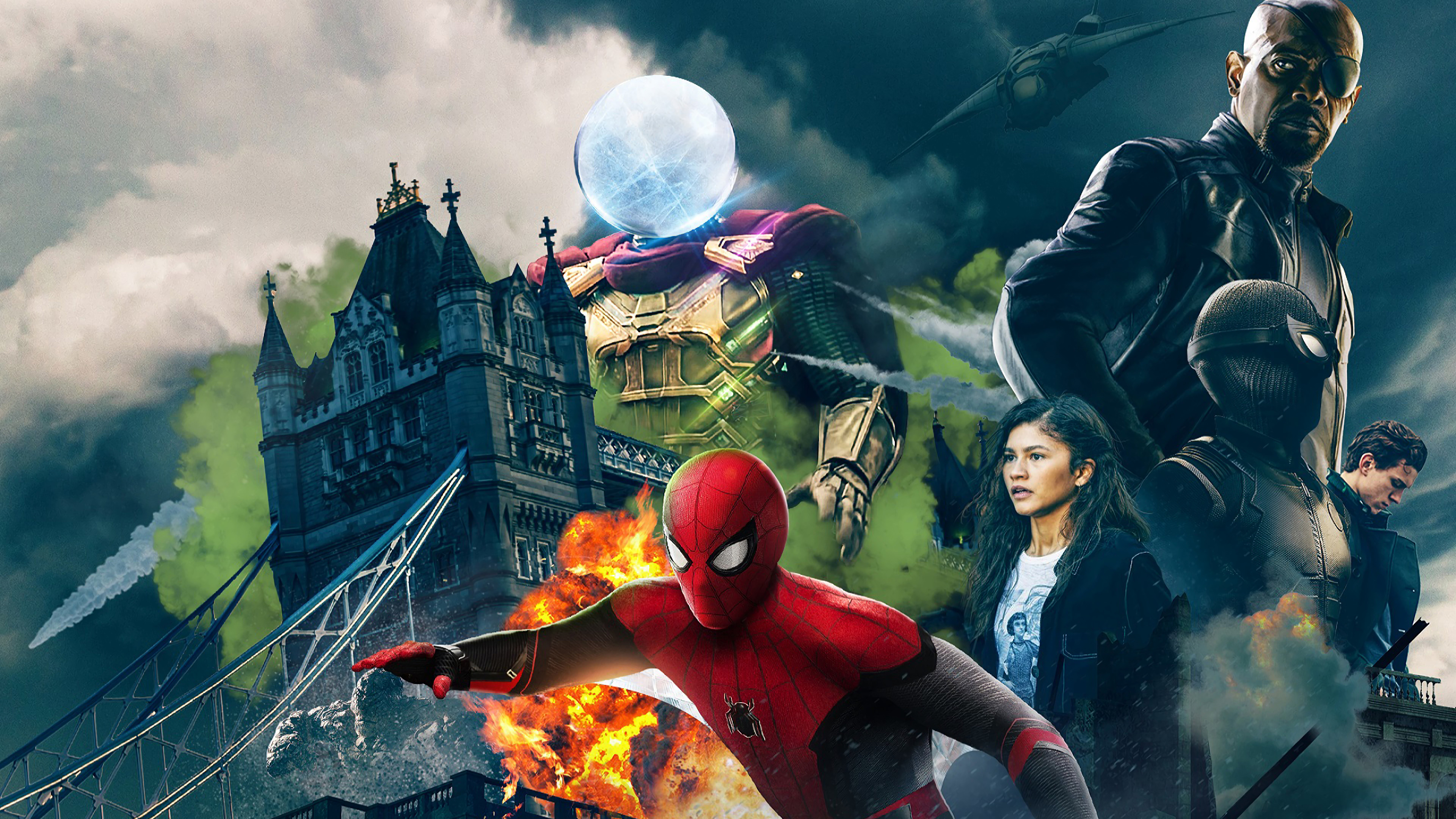 Kids N Fun Com Wallpaper Spiderman Far From Home Spiderman Far